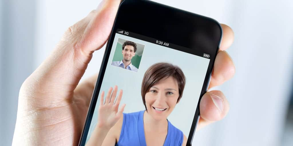 Man and Therapist online therapy video call on mobile